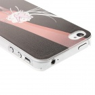 Kinston Beautiful Leg Pattern Protective Plastic Hard Back Case for IPHONE 4 / 4S - Black