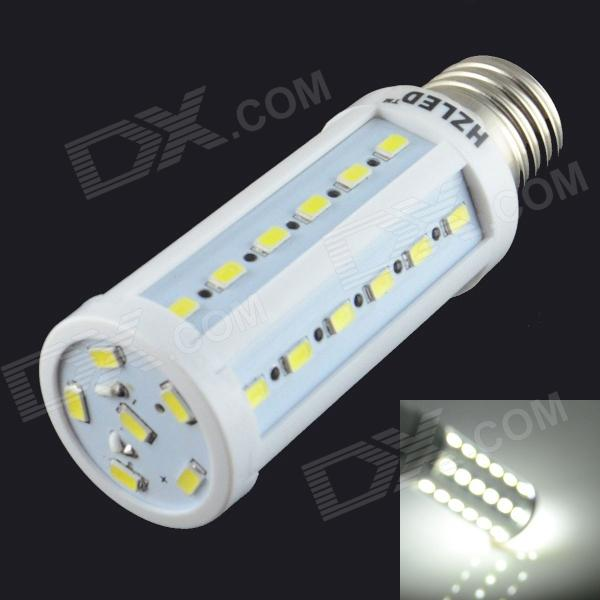 HZLED E27 9W 810lm 6000K 42-SMD 5730 LED White Light Corn Lamp - White (AC 85~265V) e27 9w 9 led 810 lumen 6000k white light bulb 85 265v ac