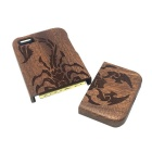 Scorpion Pattern Detachable Protective Wood Back Case for IPHONE 5 / 5S - Wood