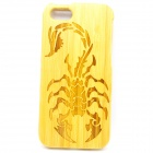 Scorpion Pattern Detachable Protective Bamboo Back Case for IPHONE 5 / 5S - Yellow