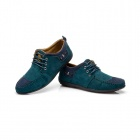 Skull Style Lace Casual Canvas Shoes - Green + Blue (EUR Size 43)