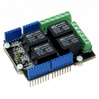 Seeedstudio SLD01101P 5V 4-CH Development Board / Relay Shield Module for Arduino -Black + Blue