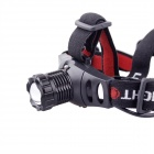 YP-3903 1-LED 250lm 3-Mode White Outdoor Headlamp - Black + Red (3 x AAA / 3 x 18650)