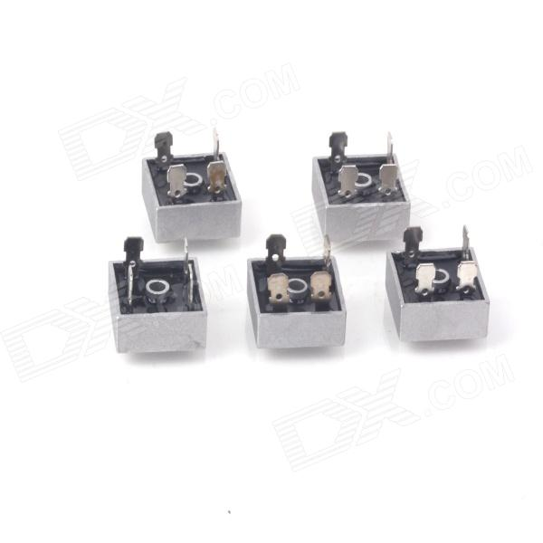 ZnDiy-BRY KBPC2510 25A 1000V Single-phase Bridge Rectifiers - Silver (5 PCS)