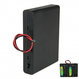 DIY 9V 6 x AA Battery Holder Case Box with Leads and Switch