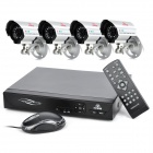 KARE D6364HT+C8414SC 4-CH DVR Digital Video Recorder w/ 12 IR Night Vision Lights Camera Set