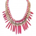 Fashion Street Snap Punk Necklace - Purplish Red