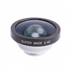 C Metal Clip Universal 0.4X Wide-Angle Lens for IPHONE / IPAD / Cellphone - Sliver + Black
