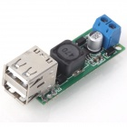 ZnDiy-BRY DIY DC 6~35V to 5V 3A Double USB Voltage Step Down Regulator Module - Green