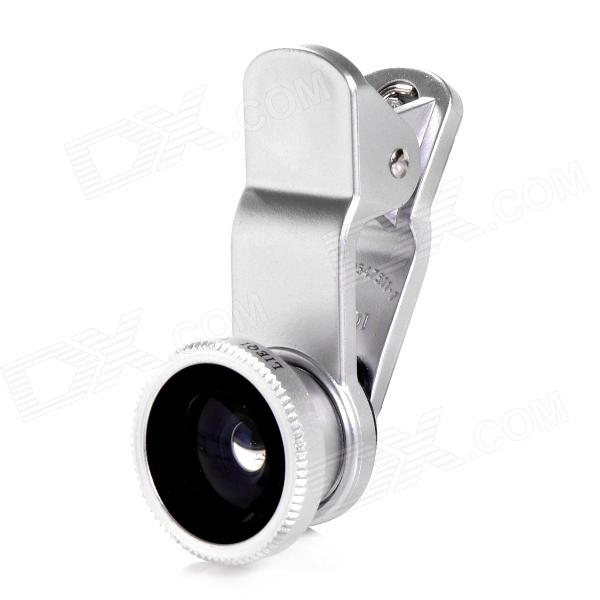 LIEQI LQ-008 4-i-1 klips CPL + Fish eye vidvinkel ++ makro objektiv satt for IPHONE / Samsung