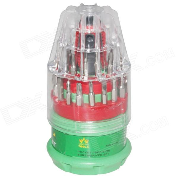 31-in-1 Multi-function Screwdriver Set / Repair Tools - Red + Green