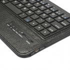 EPgate Detachable 57-Key Bluetooth V3.0 Keyboard PU Leather Case for Samsung Galaxy Tab T110 - Black