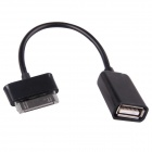 USB OTG Adapter Cable for Samsung Galaxy Note 10.1 / GT-N8000 / Galaxy Tab 2 / P5100- Black (10 PCS)