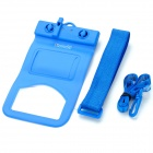 Tteoobl T-9D Outdoor Sports Mobile Phone Waterproof Protective Bag w/ Whistle - Blue