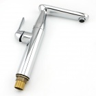 Contemporary Solid Heightening 360° Rotatable Brass Bathroom Sink Faucet