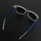 OUMILY Fashion UV400 Protection Resin Lens Sunglasses -Transparent + Blue