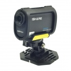 "iShare S100W Waterproof 1.5"" TFT 2.0 MP Full HD 1080P Wi-Fi 170 Degree Angle Sport Camcorder - Black"