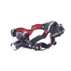 YP-3920 Cree XP-E Q5 1-LED 200lm 3-Mode Cool White Outdoor Headlamp - Black + Red (3 x AAA)