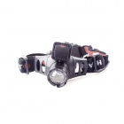 YP-3920 1-LED 200lm Lampe frontale blanche cool de 3 modes - noir + rouge (3 x aaa)
