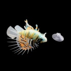 Realistic Silicone + Plastic Lionfish w/ Suction Cup for Fish Tank - Multicolored