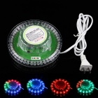 KINFIRE 8W 6000mcd 48-LED RGB Sunflower Light - Transparent (AC 85 ~ 265V / US-Stecker / 105cm-Kabel)