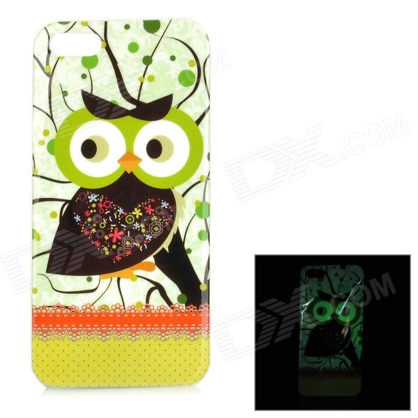 цены  Protective Night Owl Pattern Glow-in-the-dark TPU Back Case for IPHONE 5 / 5S - Mutil-colored