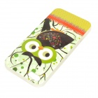 Protective Night Owl Pattern Glow-in-the-dark TPU Back Case for IPHONE 5 / 5S - Mutil-colored