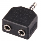 CM01 Professional Gold Plated 3.5mm Stereo Audio 1-Male to 2-Female Jack Splitter - Black (10 PCS)