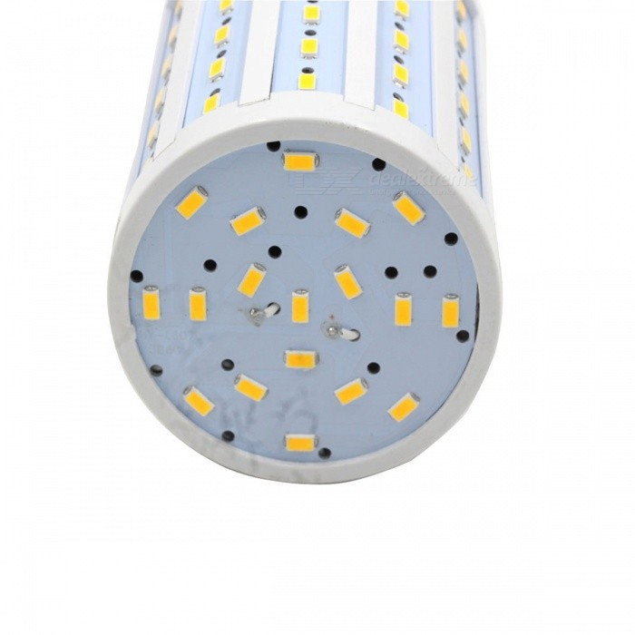 E27 20W 1350LM 2700K 98-5730 LED Warm White Light Corn Bulb (AC 220V)E27<br>ColorWhite + Silver Grey + Multi-ColoredColor BINWarm WhiteBrandN/AModelN/AMaterialAluminumQuantity1 SetPowerOthers,20WRated VoltageAC 220 VConnector TypeE27Chip BrandOthers,5730 SMDChip Type5730Emitter TypeLEDTotal Emitters98Actual Lumens400-1350 lumensColor TemperatureOthers,2700KDimmablenoWavelength0CertificationNoPacking List1 x Corn bulb<br>