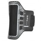 Dulisimai Twill Pattern Sports Arm Band Case w/ Stylus for HTC One M8 - Black + White