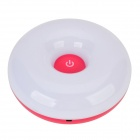 Donut en forme 0.9W 60lm 6000K 12-LED White Light Touch Lampe - Blanc + Deep Pink (5V)