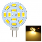 JRLED G4 4W 300LM 3000K Warm White Light 12-5630 SMD LED Reading Lamp w/ Capacitor for Car (12V)