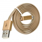 Micro USB to USB Data / Charging Cable w/ LED for Samsung / Sony / Xiaomi + More - Light Brown