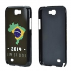 2014 World Cup Brazil Flag Pattern Aluminum Alloy Back Case w/ Card Slot for Samsung Galaxy Note 3