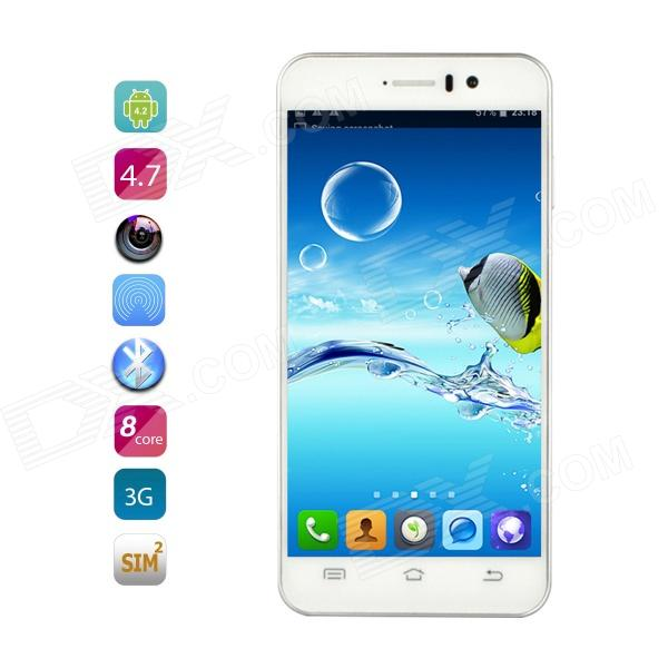JIAYU G4S MT6592 Octa Core Android 4.2 WCDMA Phone w/ 4.7 Gorilla Glass, 16GB ROM, 13MP - White jiayu g5s octa core android 4 2 2 wcdma phone w 4 5 ips 2gb ram 16gb rom wi fi gps black