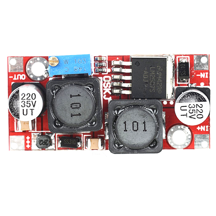 ZnDiy-BRY LM2587 DC 3~35V to 1.2~30V 2A Buck-boost Module for FPV-Red