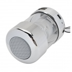 Fashionable 3.5mm 2.0-CH LED Speaker w/ TF / FM / Strap - Silver + White