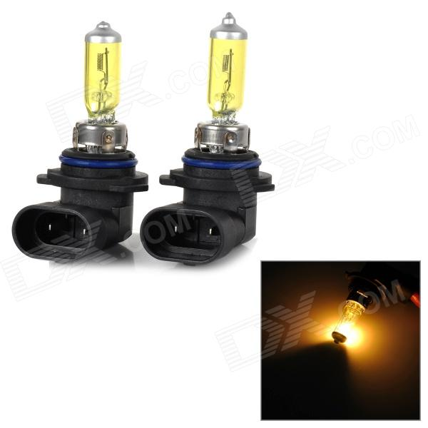 NARVA 9006 80W 800lm 3200K Yellow Light Car Halogen Lights - Yellow + Black (12V / 2 PCS)
