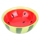 Watermelon Pattern Ceramic Soup Bowl - Red + Green + Black (200ml)