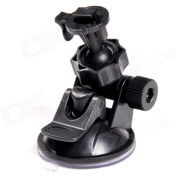 TOZ ZJ55-D1 360 Degree Rotating Car Suction Cup Stand / Holder Mount Bracket for GPS - Black toz 360 rotating car mount suction cup holder for gps 1 4 camera black