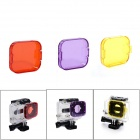 Professional Diving Housing Yellow / Orange / Purple Filters for GoPro Hero 3