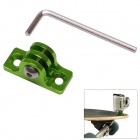 Aluminum Alloy Skating / Surfing Board Mount Fixed Socket for Gopro Hero 4/ 3+ / 3 / 2 - Green