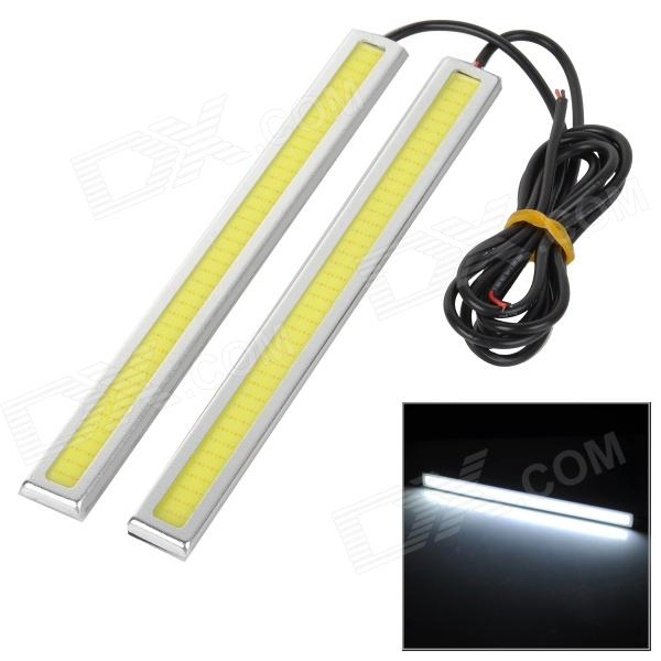 JRLED 6W 280LM 12000K Cold White COB Daytime Running Light for Car (2 PCS)
