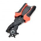 Handheld Carbon Steel + Plastic Hole Punch Plier - Red + Black