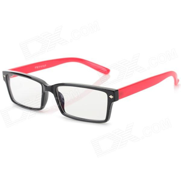 купить YIDUN Plastic Frame Resin Lens Anti-radiation Eyeglasses - Black + Red дешево
