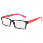 YIDUN Plastic Frame Resin Lens Anti-radiation Eyeglasses - Black + Red