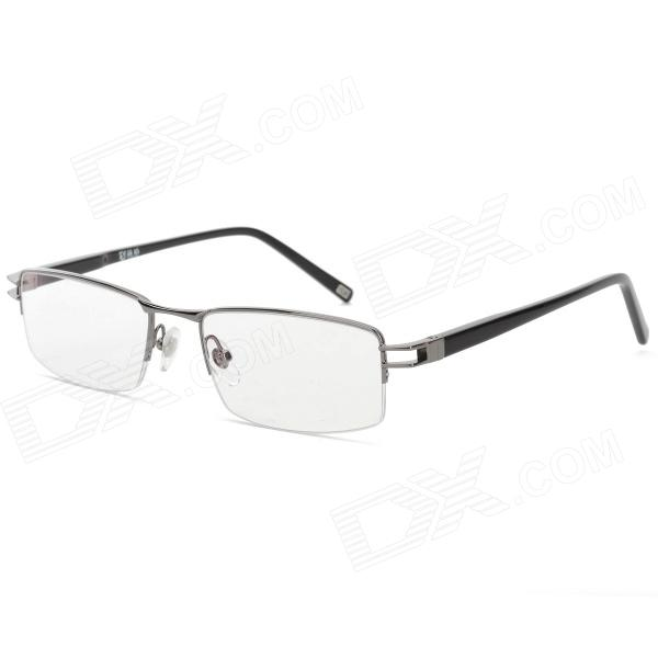 купить YIDUN UV Protection Zinc Alloy + Plate Frame Resin Lens Eyeglasses - Black Grey дешево
