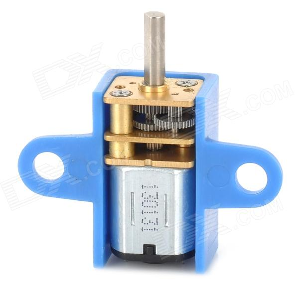 N10 DIY 3V 80rpm Gear Motor w/ Holder for Model Car - Blue + Silver + Golden diy motor shaft coupling joint golden