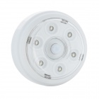 0.4W 36lm 6000K 6-LED Warm White Light Human Body Sensor Lamp - White (DC 3~6V)