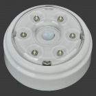 0.4W 36lm 6-LED Warm White Light Auto Human Body Sensor Lamp (DC 3~6V)